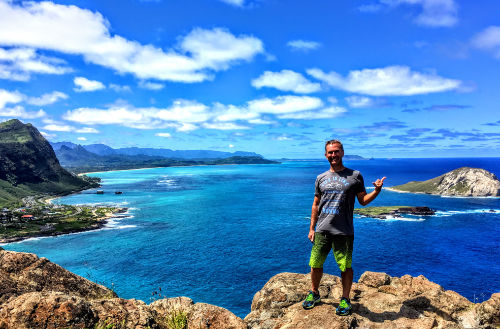 Oahu Hang Loose tour - Marcos on Makapuu Point, March 2017