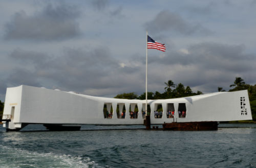 image of the USS Arizona Memorial for Pearl Harbor